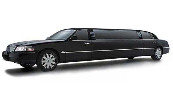 A black stretch limo